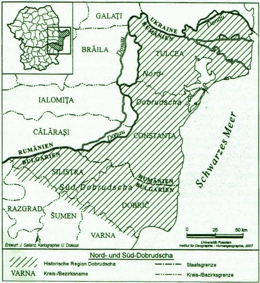 Karte Dobrudscha
