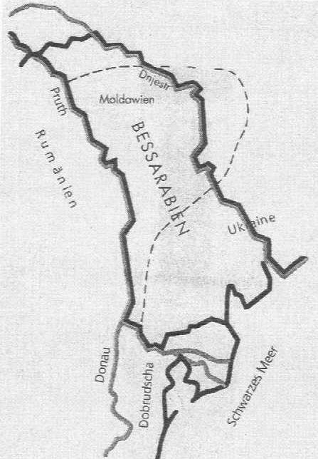 Karte Bessarabien und Dobrudscha